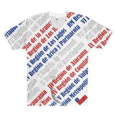 Regiones de Chile Men's V-Neck T-Shirt