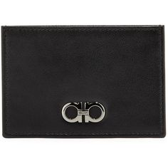 c6c2f3019 Salvatore Ferragamo Double-Gancini Leather Flat Card Case ($220) ❤ liked on  Polyvore