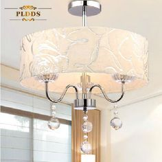 Sales Now!2013 modern crystal  Chandelier 40CM fabric lampshade led  light lamp for home/bedroom/dinning room/ living room