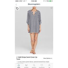 This cute Stripe Swim Tunic is now for sale for only $42.00 at #Bloomingdales on Miner. Wear to the beach or pool!