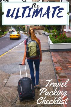 The ultimate travel packing checklist to help you plan what travel gear is needed before your next big trip. This list can be used for a round the world trip or a weekend getaway!