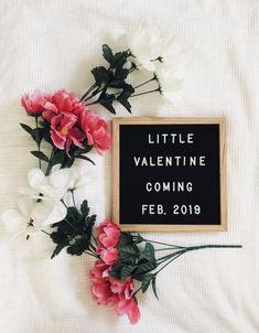Valentine baby announcement