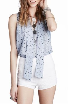 Free People Front Tie Tank