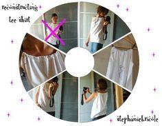 "diy reconstructing tee shirt, idée customisation tee shirt ... un pas à pas de ""Stephanie bricole"""
