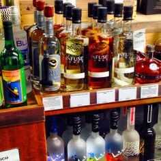 Los Angeles! Buying #Infuse on the west side is enjoyable and educational at @Wally's Wine & Spirits #Wallyswine #westwood #vodka