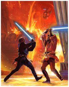 Star Wars - Anakin Skywalkder vs Obi Wan Kenobi by Tommy Lee Edwards