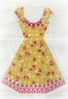 (7) Name: 'Quilting : Vintage Dresses, a paper piecing pattern