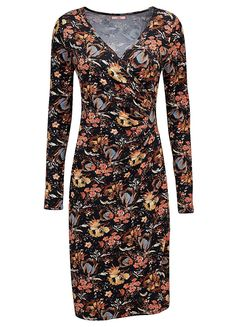 Autumn Leaf Wrap Dress by Joe Browns