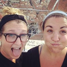 This is how we felt after climbing up 400 tiny-ass stone steps to the top of the Belltower....it was worth every step!!! @fraineorshine by mollyyyannrose