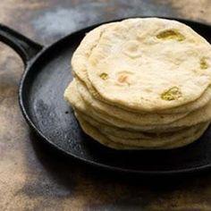 Hatch Chile Flour Tortillas Recipe dairy free, nut free, sugar free, vegan, vegetarian, cinco de mayo, texmex with 6 ingredients