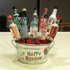Birthday Bouquet For Adults Happy Pop Party Food And Drinks
