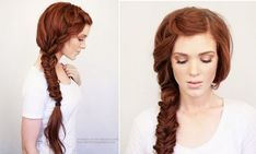 Boho side braid: The Best Summer Braids for Looking Hot and Staying Cool. Medium Hair Braids, Medium Long Hair, Braids For Long Hair, Medium Hair Styles, Side Braid Hairstyles, Summer Hairstyles, Trendy Hairstyles, Girl Hairstyles, Long Hair Wedding Styles