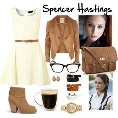 Pretty Little Liars Outfits - Spencer Hastings Pretty Little Liars Mode, Pretty Little Liars Spencer, Pretty Little Liars Outfits, Pretty Little Liers, Pll Outfits, Cute Outfits, Fashion Tv, Fashion Outfits, Womens Fashion