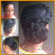 Large side braid updo. #NaturalHair