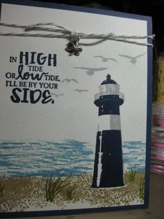 Occasions catalog Luv 2 Stamp group High Tide lighthouse card by Ang, Supplies from Stampin Up!