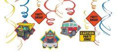 Tonka Truck Swirl Decorations 12ct - Party City