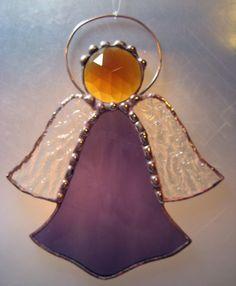 Large Stained Glass Angel Suncatcher by JuliaLouiseShop on Etsy, $12.00