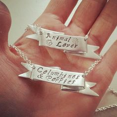 Personalized Quote Necklace  Sterling Silver Ribbon by MerCurios, $76.00