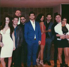 All together now! Chloe Bridges shared a snap of herself beside boyfriend Adam Devine on F...
