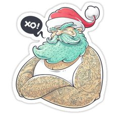 Ho-ho! Hipsta Claus in da house! Everyone loves this fat old man! But this Santa got cool hipster style! Check it out! Vector art by Vecster. • Also buy this artwork on stickers, apparel, phone cases, and more.