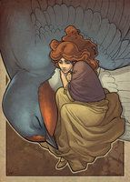 Thumbelina by ~hellcorpceo on deviantART; The colors are striking and unusual style.