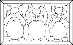 Three Wise Kittens, an original pattern