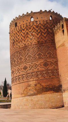 Persian Architecture, Brick Architecture, Cultural Architecture, Ancient Architecture, Palaces, Visit Iran, Shiraz Iran, Brick Art, Iran Travel