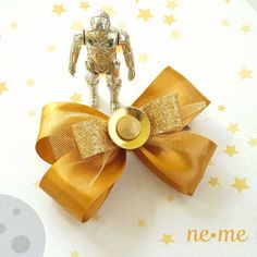 C-3P0 Inspired Hair Bow Star Wars Inspired Hair by nemehairbows