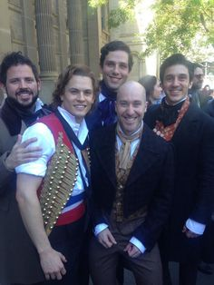 Leading cast members of Les Miserables Saturday 4th October 2014