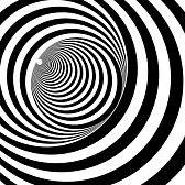 optique art : Un tunnel noir et blanc soulagement optique illusion illustration vectorielle Illustration