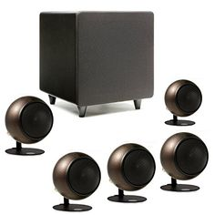 Introducing Orb Audio Mini 51 Home Theater Speaker System in Hammered Earth. Great Product and follow us to get more updates!