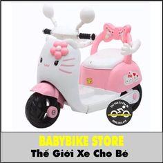 THÔNG TIN KỸ THUẬT VỀ XE BA BÁNH ĐIỆN CHO BÉ HELLO KITTY KT100 Model: xe máy điện trẻ em KITTY KT100 Kích thước xe: 107*50*39cm Trọng lượng xe: 8kg Tải trọng: 25kg Pin: 6V4,5AH Tốc độ: 3km/h Độ tuổi sử dụng: phù hợp cho bé gái từ 1-4tuổi Màu sắc: Trắng Hồng Ems, Hello Kitty, Bike, Children, Bicycle, Young Children, Boys, Kids, Bicycles