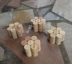 Set of 4 Wine Cork Table Number Holders Great by KrystlesWeddings, $17.50 BRAND NEW LISTING