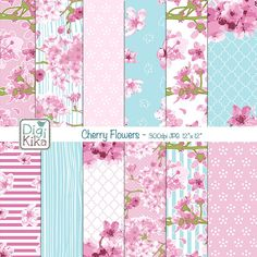 Cherry Blossom Digital Papers