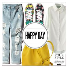 """""""Happy Day"""" by lucky-1990 ❤ liked on Polyvore featuring Lancaster, Pussycat and Chooze"""