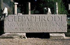 Sans closest to Roman inscriptions? In Ancient Times, Stone Carving, Romans, The Past, Lettering, Outdoor Decor, Beautiful, History, Type