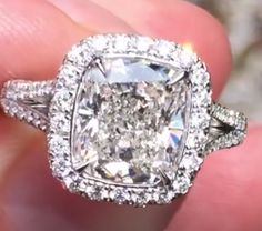 Cushion Cut, Engagement Rings, Crystals, Diamond, Jewelry, Enagement Rings, Wedding Rings, Jewlery, Bijoux