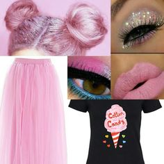 Cotton candy costume Candy Land Costumes, Diy Costumes, Costumes For Women, Sister Costumes, Candy Girls, Makeup For Teens, Diy For Teens, Cotton Candy Makeup, Diy Beauty