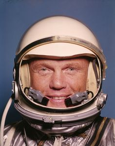UNITED STATES - 1959:  Space suit clad Project Mercury astronaut John Glenn.  (Photo by Ralph Morse/Life Magazine/The LIFE Picture Collection/Getty Images) via @AOL_Lifestyle Read more: http://www.aol.com/article/news/2017/01/11/23-memorable-images-from-life-magazine/21652863/?a_dgi=aolshare_pinterest#fullscreen