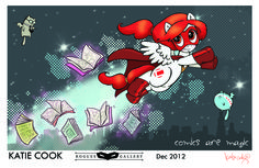"""Katie Cook """"Grawlix the Pony"""" Print from Challengers Comics."""