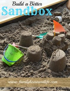 Build a Better Sandbox DIY from {Family Home and Life} http://www.familyhomeandlife.com/2013/02/build-better-sandbox.html