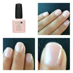 CND Shellac Beau This is a nice creamy pink based colour. A good choice for the base colour of a french manicure.