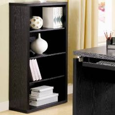 Check out the Coaster Furniture 800823 Peel Bookcase with 4 Shelves in Black Black Bookcase, Small Bookcase, Bookcase Shelves, Bookcases, Open Shelves, Black Bedroom Furniture, Led Furniture, Coaster Furniture, Fine Furniture