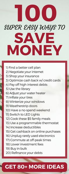 Wow! 100+ Ideas to save money and live frugally. Lots of great tips and strategies here.