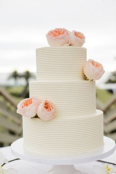 In love with this wedding cake: http://www.stylemepretty.com/california-weddings/del-mar-california/2014/03/13/destination-beach-wedding-in-del-mar-california/ | Photography: Archetype - http://archetypestudioinc.com/