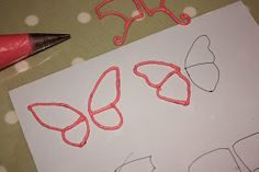 Vanilla: How to make royal icing butterflies