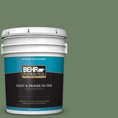 BEHR Premium Plus 5-gal. #S390-6 Cliffside Park Satin Enamel Exterior Paint