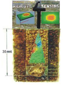 Gömü sandıkları gibi gömülü hazineler, değerli metaller, gizli boşluklar, m cevher veya sikke ve çok daha fazlası dahil olmak üzere yeraltından üç boyutlu grafik elde edebilirsiniz. Hazine avcılığı için bu metal dedektör radar, 35 metre gibi yüksek derinliklere ulaşabilir ve bu yüzden derin arama için en uygun cihazdır.