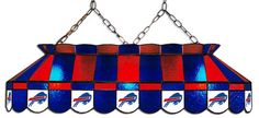 Buffalo Bills NFL Stained Glass Pool Table Light