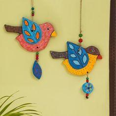 Diy Clay, Clay Crafts, Mobiles, Diy Diwali Decorations, Clay Wall Art, Wall Decor Set, Polymer Clay Art, Decorative Pillows, Terracotta